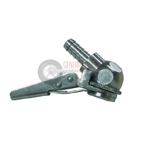AC128-1 Csatos pumpavég, nyitott, króm, gömb alakú, D8 mm, BL