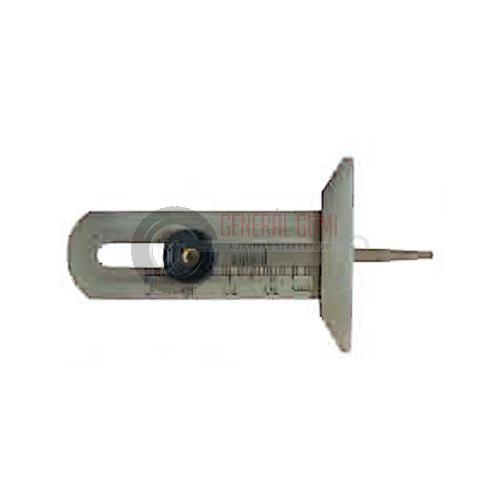 TDG02 Profilmélységmérő, lapos fém, 0-30 mm, SZGK, BL
