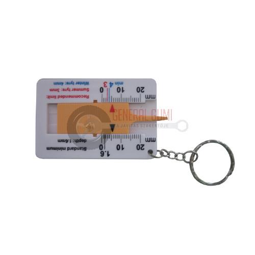 TDG06 Profilmélységmérő, műanyag, kulcstartós, BL