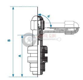 Motorkerékpár fémszelep, krómozott, belső szerelésű, L51,5-45°/16-11,3 mm HAMATON 1-805 (VS-8-45)