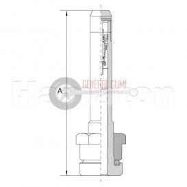 TR542 TGK-BUSZ szelep, egyenes, króm, L 32/9,7 1-501 HT,