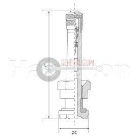 TR552 TGK-BUSZ szelep, egyenes, króm, L 32/9,7 1-552 HT