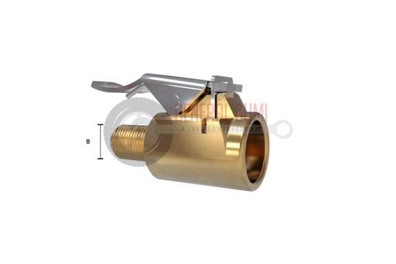 MG csatos pumpavég, nyitott réz, D8 mm menettel, WONDER 296