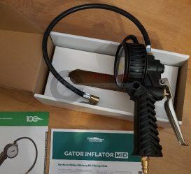 GATOR INFLATOR MID, 0,5 m tömlővel, 12 bár