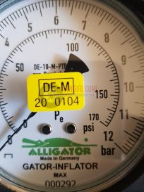 GATOR INFLATOR MAX, 0,5 m tömlővel, 12 bár, NITROGÉN kompatibilis