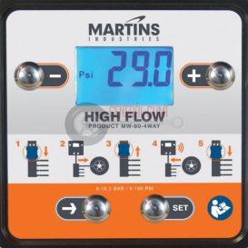 MARTINS MW-60-4WAY digitális fali automata abroncstöltő, 4 kimenettel, 7,6 m tömlővel, 10 bár