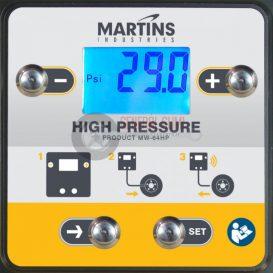 MARTINS MW-64 LE digitális fali automata abroncstöltő, 1 kimenettel, 7,6 m tömlővel, 16 bár
