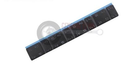 Ragasztható vassúly 3,8 mm, CHH 4x5g + 4x10g, 60g, bevonatos fekete
