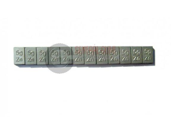 Ragasztható cinksúly, CHY 12x5g, 60g, bevonat nélkül