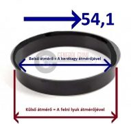 Központosító gyűrű  57,1-54,1