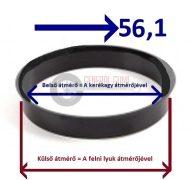 Központosító gyűrű  57,1-56,1