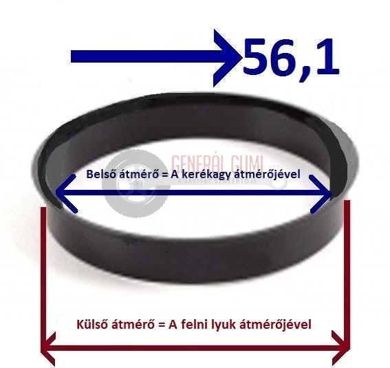 Központosító gyűrű  63,3-56,1