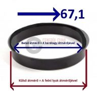 Központosító gyűrű  68,1-67,1