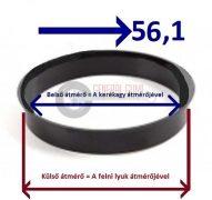 Központosító gyűrű  72,0-56,1