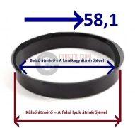 Központosító gyűrű  72,2-58,1