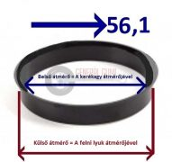 Központosító gyűrű  72,6-56,1