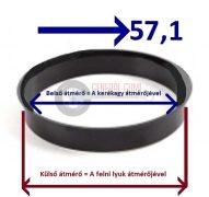 Központosító gyűrű  72,6-57,1