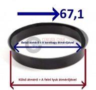 Központosító gyűrű  72,6-67,1
