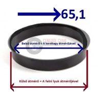 Központosító gyűrű  74,1-65,1