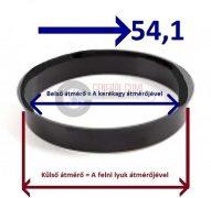 Központosító gyűrű  76,1-54,1