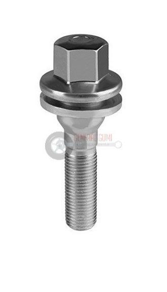 12x1,25x55 HEX17 lapos alátétes kerékcsavar, galvanizált, PEUGEOT, ELSB1079