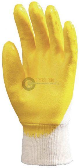 Sárga (9318), tenyéren mártott nitril kesztyű 8