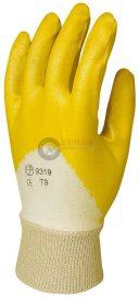 Sárga (9319), tenyéren mártott nitril kesztyű 9